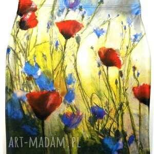 niepowtarzalne spódnice maki spódnica ołówkowa