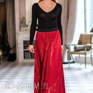 czerwone spódnice maxi spódnica rita