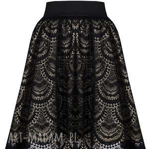spódnice koronkowa spódnica rozkloszowana z koronki