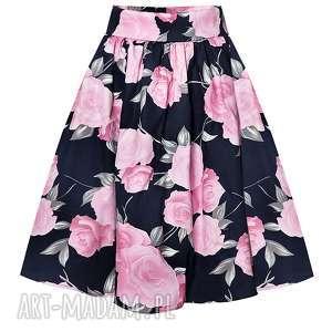 spódnice róże spódnica rozkloszowana w