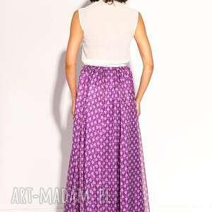 fioletowe spódnice jedwabna spódnica tiaisja