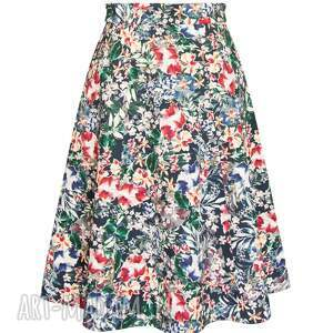 trapezowa spódnice spódnica w kwiaty
