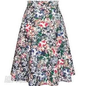 niekonwencjonalne spódnice trapezowa spódnica w kwiaty