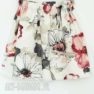 czarne spódnice kwiaty spódnica w duże