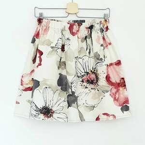 frapujące spódnice spódnica w duże kwiaty