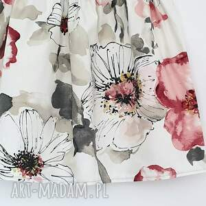 Du Nord Spódnica w duże kwiaty - z kieszeniami kwiecista