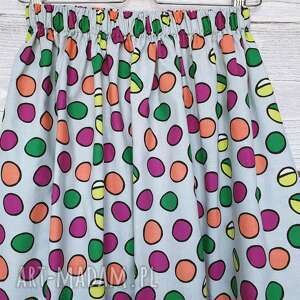 w groszki spódnice kolorowe spódnica w grochy