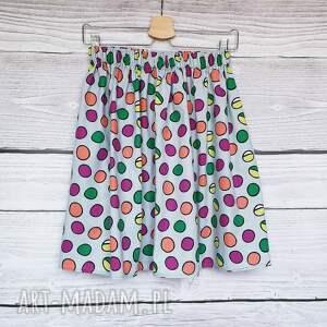 nietuzinkowe spódnice w groszki spódnica w kolorowe grochy