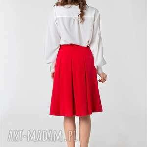 kontrafałdy spódnice czerwone spódnica w rozmiar od