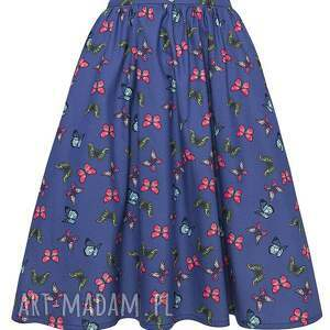 hand made spódnice midi spódnica w motylki