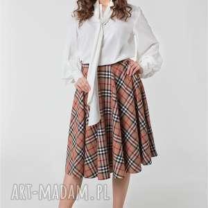 unikalne spódnice burberry spódnica z koła kieszenie podszewka