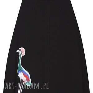 spódnice naszywka spódnica z żurawiem