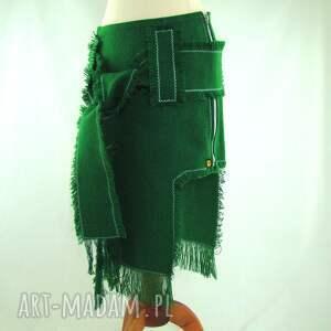 frędzle spódnice spódnica zielona