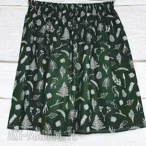 zielone spódnice butelkowa zieleń spódniczka las w odcieniu