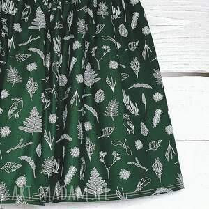 unikatowe spódnice spódniczka las w odcieniu