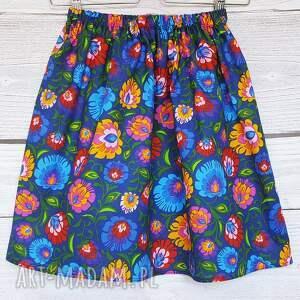 spódnice: spódniczka łowicz czarna folk regionalna
