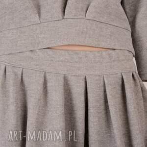 srebrne spódnice dresowa szara spódnica