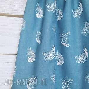 niebieskie spódnice pióra wyjątkowa spódniczka