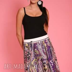 fioletowe spódnice wzorzysta spódniczka z ozdobną