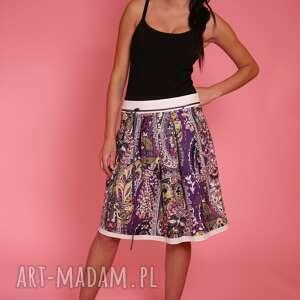 bawełna spódnice białe barwna, kwiatowa spódniczka, która rozweseli