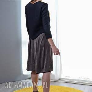 ręcznie robione spódnice spódnica zamszowa calista