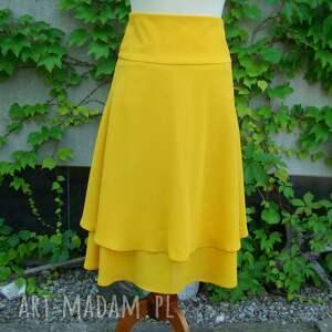 spódnice spódnica żółta