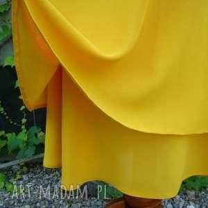 spódnice dwuwarstwowa żółta spódnica