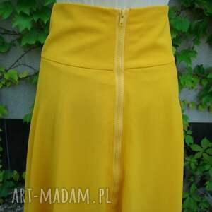 spódnice: żółta spódnica dwuwarstwowa - falbana letnia