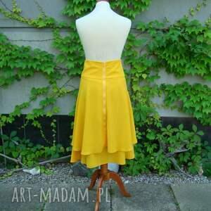 BARSKA spódnice dwuwarstwowa żółta spódnica
