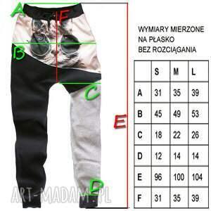 spodnie zielone baggy 3d full print trawka