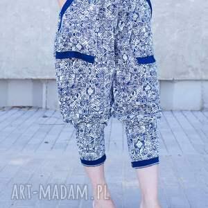 spodnie nadruk bawełniane z nadrukiem