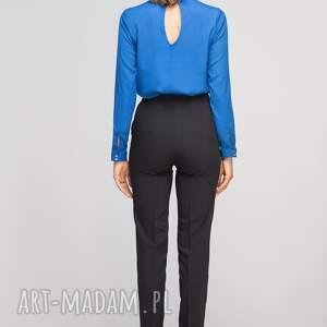 spodnie eleganckie bez mankietów, sd114 czarny