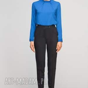 unikatowe spodnie wysokie bez mankietów, sd114 czarny