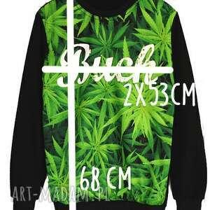 modne spodnie dres sportowy blogerski z marihuaną komplet