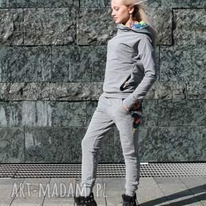 spodnie dresik bluza z komino - kapturem