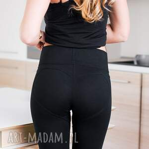 spodnie z dystansem czarne legginsy co se schudne to