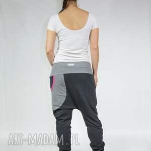 szare spodnie dresowe damskie baggy - dres
