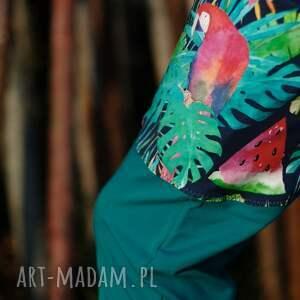 niepowtarzalne spodnie w-papugi damskie papugi - baggy