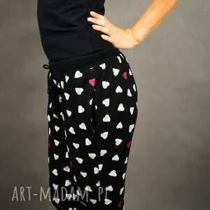 atrakcyjne spodnie dresowe sweatheart czarne