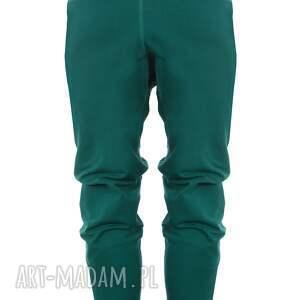 spodnie na joge dresowe damskie - butelkowa