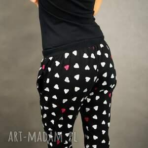 spodnie nadruk dresowe sweatheart czarne