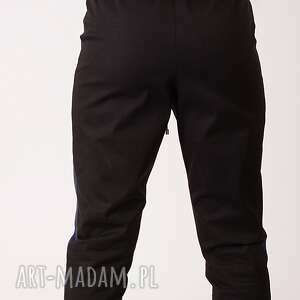 intrygujące spodnie dwukolorowe bawełniane