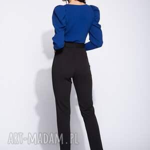 spodnie dpoasowane eleganckie czarne damskie