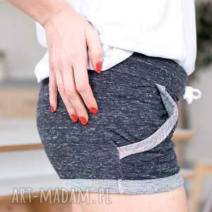 krótkie spodenki spodnie grafitowe szorty