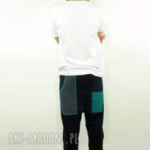 frapujące spodnie dres granatove męskie - baggy