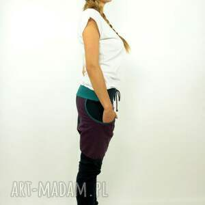 spodnie dresowe granatove damskie - baggy