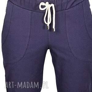 wyjątkowe spodnie jeansy granatowe bawełniane