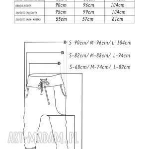 unikatowe spodnie wygodne gwiazdy damskie - baggy