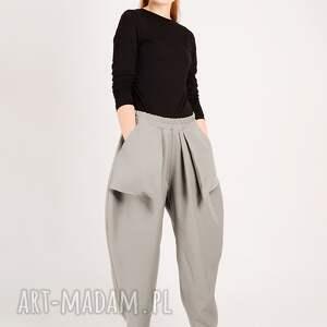spodnie duze jasnoszare z kieszonkami
