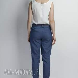 spodnie kokardka jeansowe z szarfą, sd110